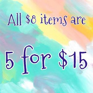5 for $15 deal!